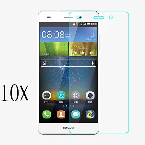 [10 шт] профессиональный высокая прозрачность ЖК ясна протектор с чистящей тканью для Huawei P8 мини экран