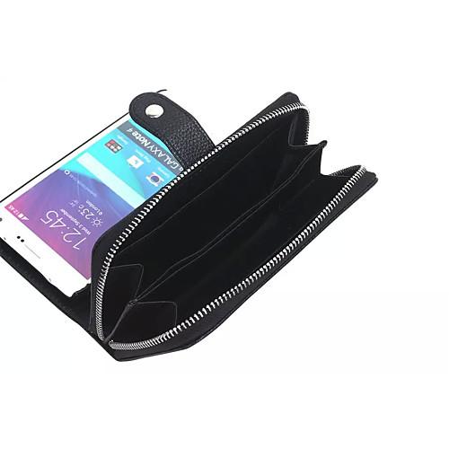 Магнитный, кожаный чехол на молнии с карманом для карточек для Samsung Galaxy Note 4 от MiniInTheBox.com INT
