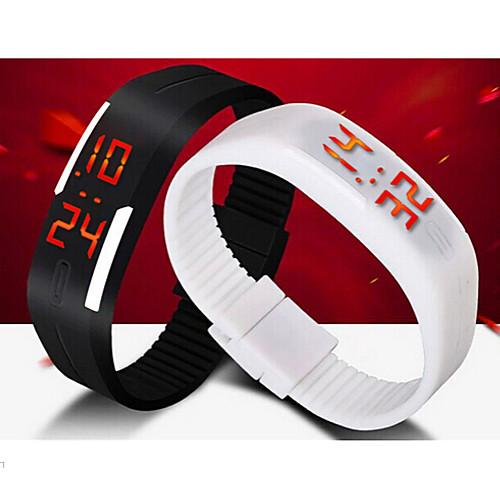 Муж. Спортивные часы / Наручные часы Календарь / LED силиконовый Группа Черный / Белый / Синий