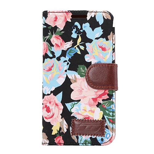 Кейс для Назначение HTC Бумажник для карт Кошелек со стендом Флип Чехол Цветы Твердый Кожа PU для HTC One M9 HTC One M8 htc one в рассрочку дешево