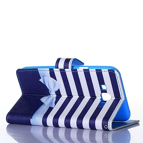 Для Кейс для  Samsung Galaxy Чехлы панели Кошелек Бумажник для карт со стендом Флип Чехол Кейс для Полосы / волосы Искусственная кожа для от MiniInTheBox.com INT
