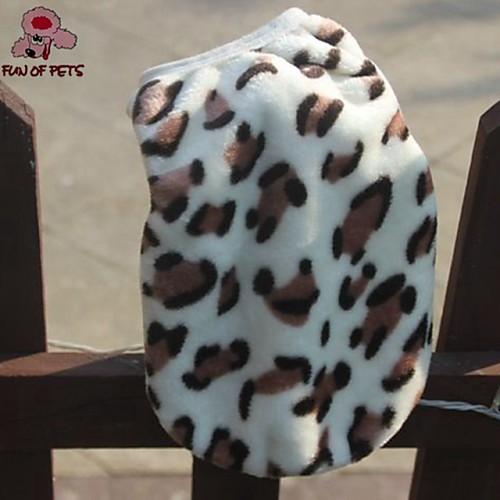 Кошка Собака Жилет Одежда для собак Леопард Цвет-леопард Флис Костюм Для домашних животных Муж. На каждый день Сохраняет тепло petmax жилет коричневый с орнаментом s