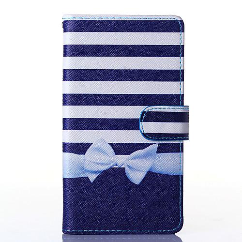 Для Кейс для  Samsung Galaxy Кошелек / Бумажник для карт / со стендом / Флип Кейс для Чехол Кейс для Полосы / волосы Искусственная кожа <br>
