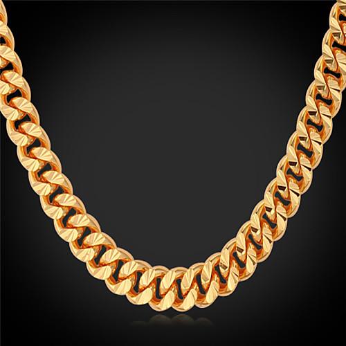 Муж. Ожерелья-бархатки / Ожерелья-цепочки / Воротничок - Позолота Мода Золотой Ожерелье Назначение Свадьба, Для вечеринок, Повседневные