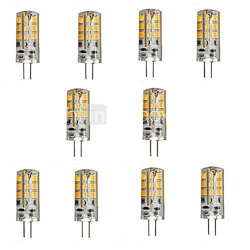 2.5w g4 светодиодные двухконтактные лампы 24 smd 2835 200-250 lm теплый белый / холодный белый dc 12 v 10 шт. от MiniInTheBox.com INT