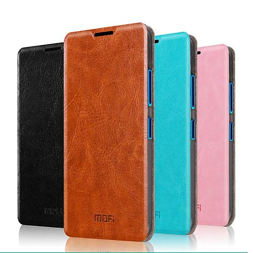 Кейс для Назначение Nokia Lumia 640 Nokia Кейс для Nokia со стендом Флип Чехол Сплошной цвет Твердый Настоящая кожа для Nokia Lumia 640 XL nokia 6700 classic illuvial