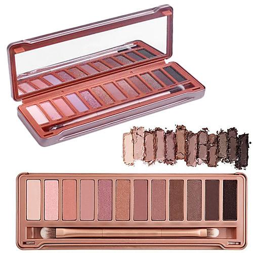12 цветов складка глаз тени 3в1 матовый переливаются&палитра блеск оригинальный цвет с кистью&зеркало от MiniInTheBox.com INT