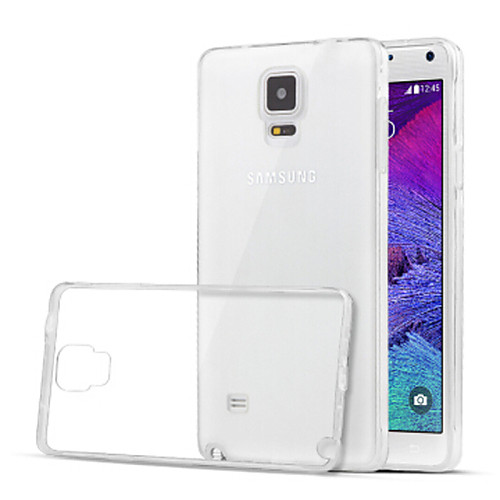 Кейс для Назначение SSamsung Galaxy Samsung Galaxy Note Прозрачный Кейс на заднюю панель Сплошной цвет ТПУ для Note 4 чехол для для мобильных телефонов rcd 4 samsung 4 for samsung galaxy note 4 iv