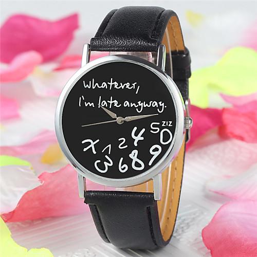 Женские Модные часы Кварцевый PU Группа Черный / Белый бренд- <br>