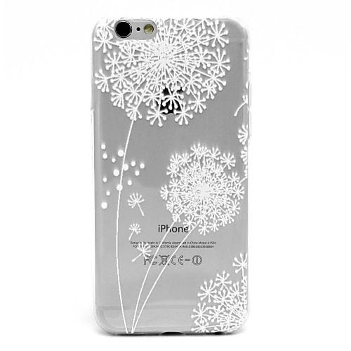 Для Кейс для iPhone 6 / Кейс для iPhone 6 Plus Ультратонкий / Прозрачный / С узором Кейс для Задняя крышка Кейс для Одуванчик Мягкий TPU <br>