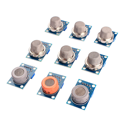 Датчик газа комплект MQ-2 MQ-3 MQ-4 MQ-5 MQ-6 MQ-7 MQ-8 MQ-9 MQ-135 датчик для Arduino Модуль