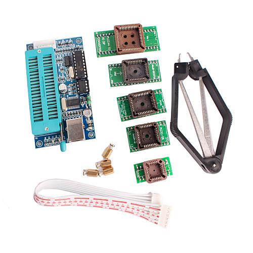 ПИК программист K150 USB автоматическое программирование с PLCC ческого тестирования сиденья комплект адаптера для разработки st16c1550cj plcc
