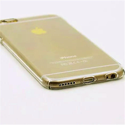 Кейс для Назначение Apple Кейс для iPhone 5 iPhone 6 iPhone 6 Plus iPhone 7 Plus iPhone 7 Прозрачный Кейс на заднюю панель Сплошной цвет