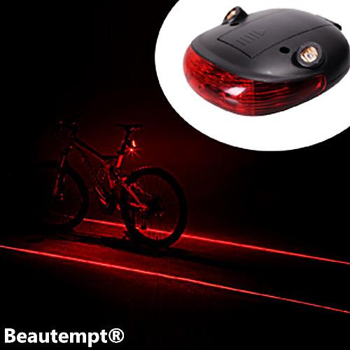 Задняя подсветка на велосипед / огни безопасности / задние фонари Лазер / Светодиодная лампа Велоспорт Водонепроницаемый, Ударопрочный, Лазер Литиевая батарея Батарея Велосипедный спорт