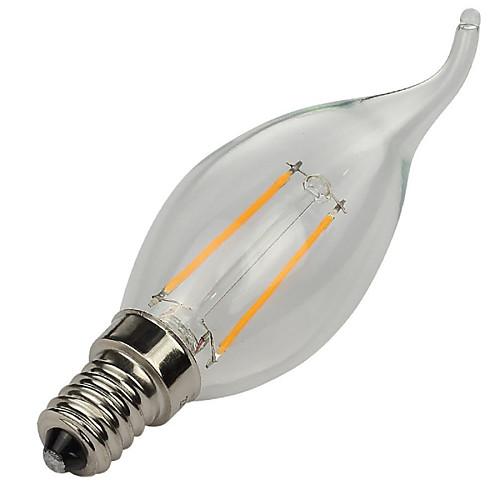 5 шт. 2 Вт. 3000/6500 lm E14 LED лампы накаливания CA35 2 светодиоды Высокомощный LED Декоративная Тёплый белый Холодный белый AC 220-240V от MiniInTheBox.com INT