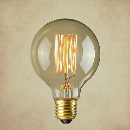 1шт 40 W E26 / E26 / E27 G80 Тёплый белый 2300 k Лампа накаливания Vintage Эдисон лампочка 220-240 V / 110-130 V