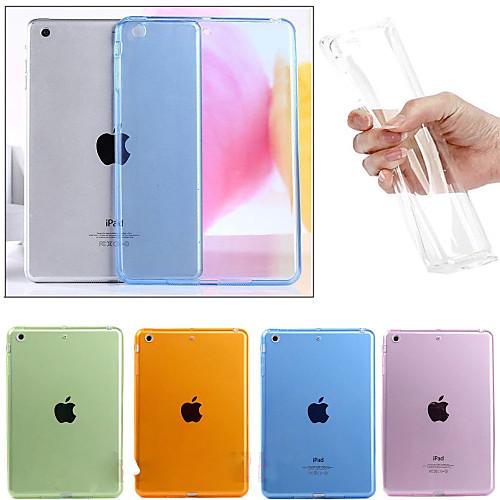 Кейс для Назначение Apple iPad Mini 4 iPad Mini 3/2/1 iPad 4/3/2 iPad Air 2 iPad Air Прозрачный Кейс на заднюю панель Сплошной цвет Мягкий гибкий кабель для мобильных телефонов for apple 20pcs lot usb flex ipad 2 ipad 6 dhl ems air 2