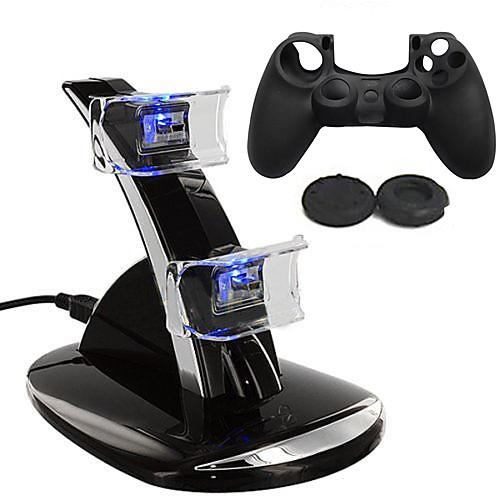 PS4 USB Зарядные устройства Назначение PS4 , Перезаряжаемый Зарядные устройства пластик 2 pcs Ед. изм чехол ps4