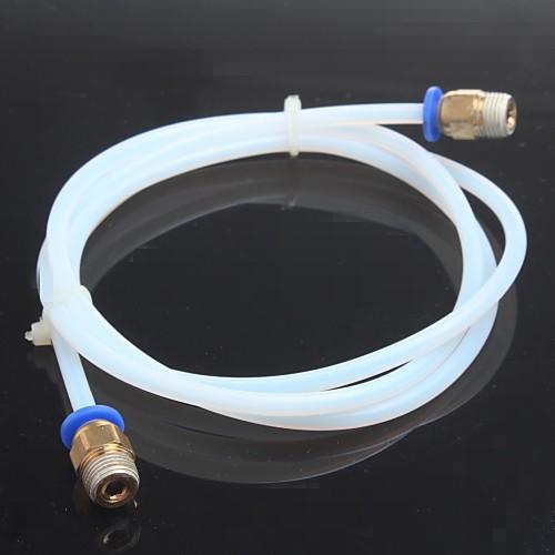 1м 3d принтер ПТФЭ трубка для междугородних, 3d принтера J-головки hotend для 1.75mm e3D Боуден экструдера minions пробивной 3d мини светильник боб