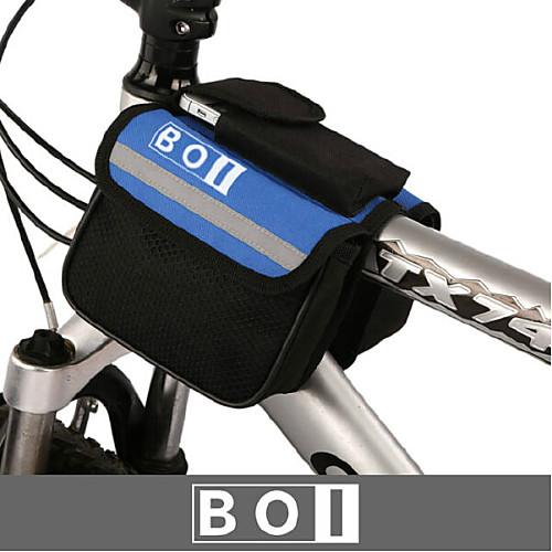 BOI 1.9 L Бардачок на руль Водонепроницаемость, Пригодно для носки, Ударопрочность Велосумка/бардачок Ткань / 600D Ripstop Велосумка/бардачок Велосумка Другие же размера телефоны