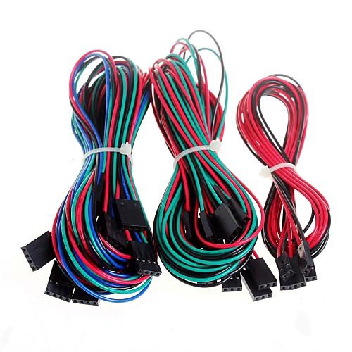 14pcs полные Соединительный кабель для принтера RepRap 3D пандусы 1.4 концевые ограничители термисторы двигателя