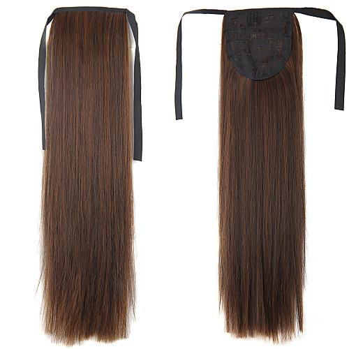 На клипсе Конские хвостики Искусственные волосы Волосы Наращивание волос Прямой