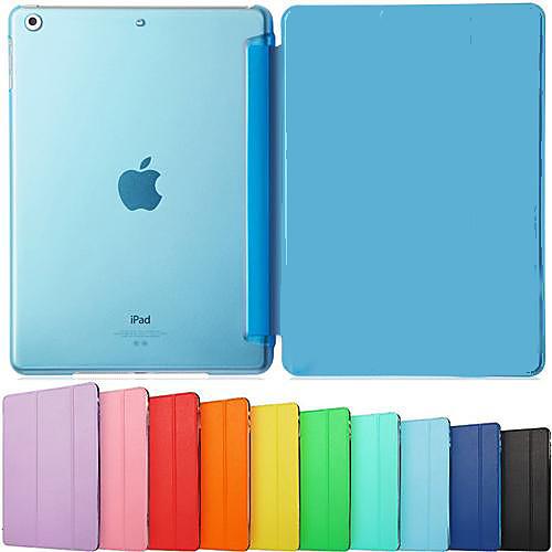 Кейс для Назначение iPad Air Один цвет Folio Case Авто Режим сна / Пробуждение Сплошной цвет Кожа PU для кейс для диджейского оборудования thon case for xdj rx notebook