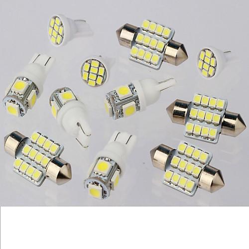 SO.K 11pcs Автомобиль Лампы 1W 50lm 11 Внутреннее освещение лампы освещение