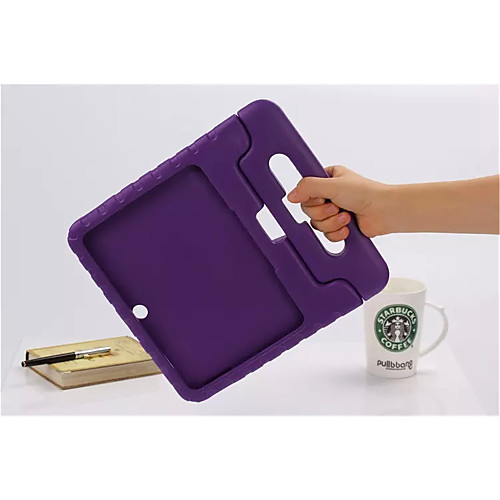 Case For Tab S 10.5 / Samsung Galaxy / Tab A 9.7 Samsung Galaxy Case Shockproof / with Stand / Child Safe Full Body Cases Solid Colored Silicone for Tab 4 10.1 / Tab 3 10.1
