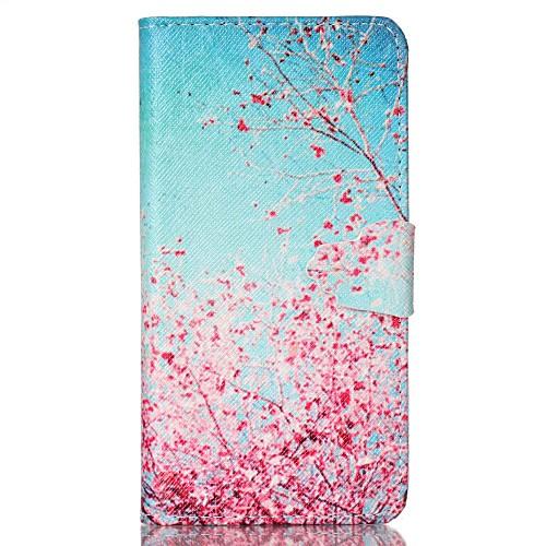 Кейс для Назначение SSamsung Galaxy Кейс для Samsung Galaxy Кошелек / Бумажник для карт / со стендом Чехол дерево Кожа PU для S6 / S5 Mini / S5 клип кейс ibox fresh для samsung galaxy s5 mini черный