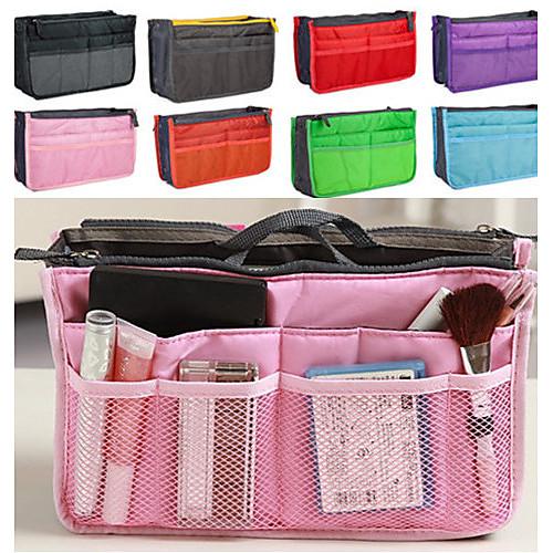 женская мода случайные многофункциональные сетки косметические сумка сумка хранения tote организатор 8 цвет органайзеры и сумки