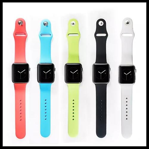Купить со скидкой Ремешок для часов для Apple Watch Series 4/3/2/1 Apple Спортивный ремешок силиконовый Повязка на зап