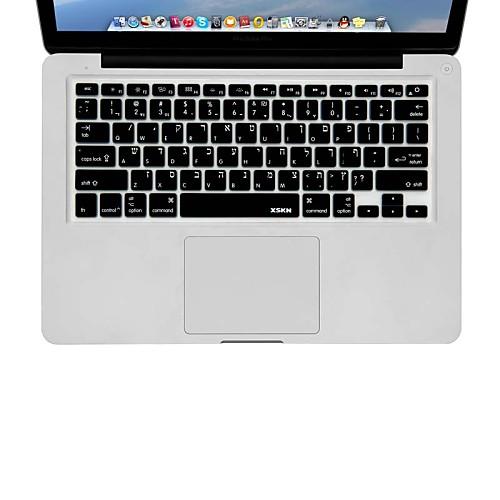 xskn иврит Силиконовые клавиатуры Обложка кожи для MacBook Air 13, MacBook Pro без сетчатки 13 15 17, нам макет накладка для клавиатуры 11 apple macbook pro mac 13 15 17 13 01ku 2us9