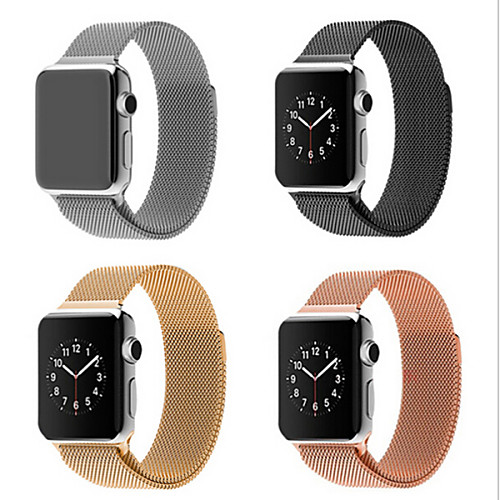 Milanese Loop Band for Apple watch 44mm 40mm 42mm 38mm Link Bracelet Strap Stainless Steel Mesh Metal Loop with Adjustable Magnetic Closure Replacement Bands Compatible with Iwatch Series 5 4 3 2 1