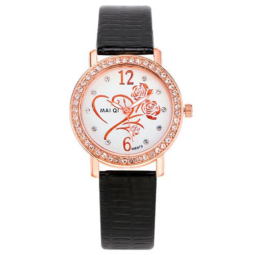 женщин вскользь кожаный ремешок стразы часы от MiniInTheBox.com INT