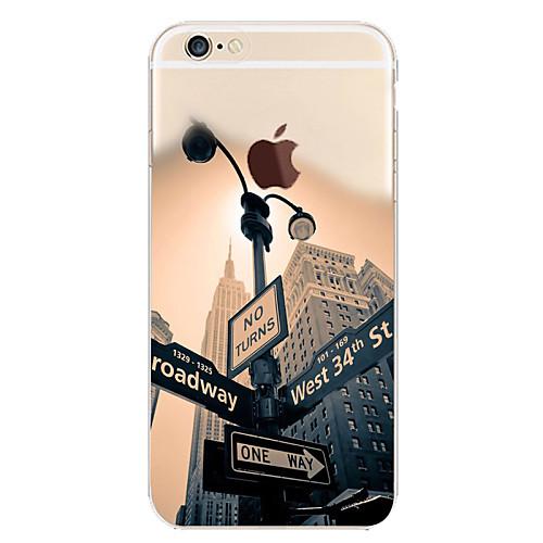 Кейс для Назначение Apple Кейс для iPhone 5 iPhone 6 iPhone 6 Plus iPhone 7 Plus iPhone 7 С узором Кейс на заднюю панель Вид на город