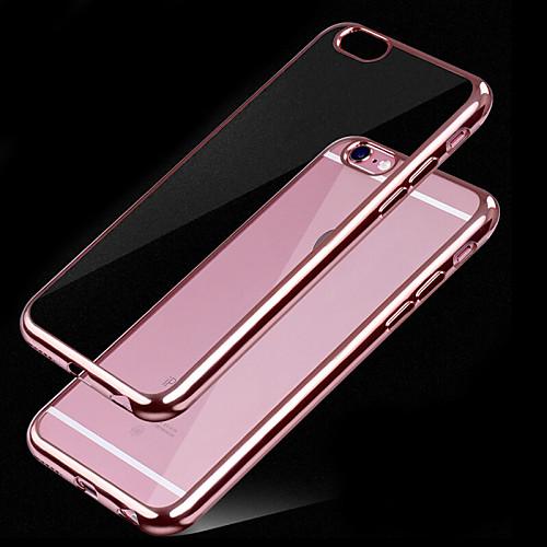 Кейс для Назначение Apple iPhone 6 Покрытие Прозрачный Кейс на заднюю панель Сплошной цвет Мягкий ТПУ для iPhone X iPhone 8 Pluss iPhone