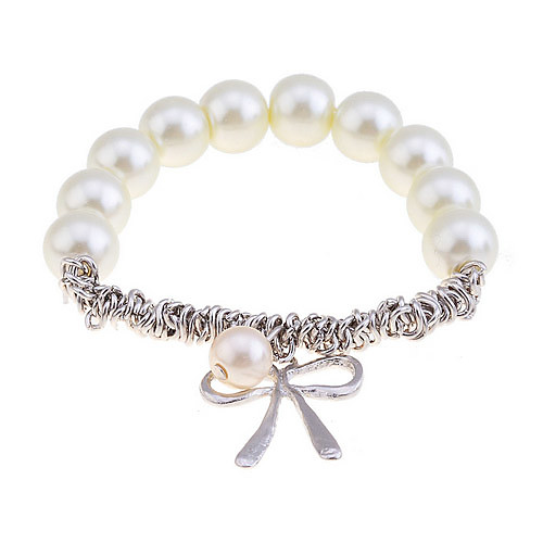 Women's Charm Bracelet Imitation Pearl Bracelet Jewelry Silver / Golden For Christmas Gifts Party Daily Casual