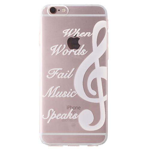 Кейс для Назначение Apple iPhone 6 iPhone 6 Plus iPhone 7 Plus iPhone 7 Прозрачный С узором Кейс на заднюю панель Слова / выражения Мягкий