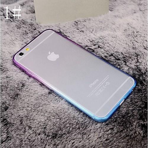 Кейс для Назначение Apple iPhone 6 iPhone 6 Plus Прозрачный Кейс на заднюю панель Градиент цвета Мягкий ТПУ для iPhone 6s Plus iPhone 6s