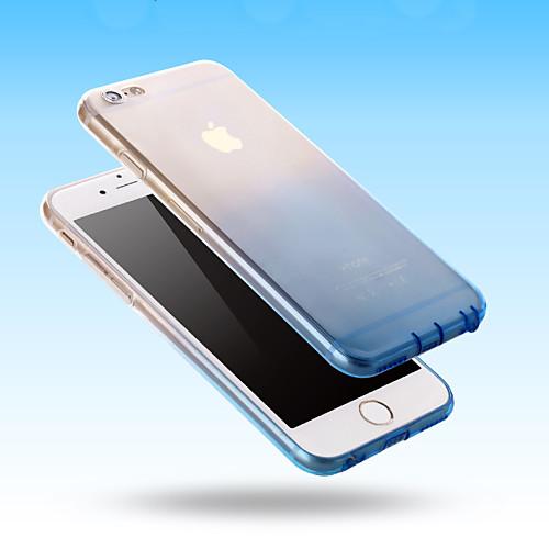 Кейс для Назначение iPhone 5 Apple Кейс для iPhone 5 Прозрачный Кейс на заднюю панель Градиент цвета Мягкий ТПУ для iPhone SE/5s iPhone 5