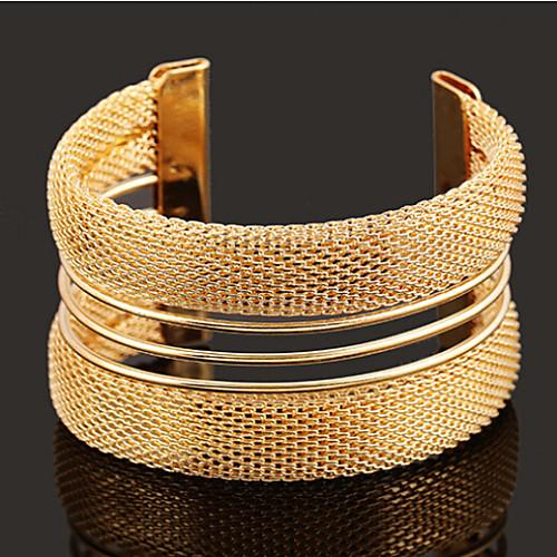 Жен. Широкий браслет с прорезями Браслет разомкнутое кольцо - Золотой браслет soul diamonds женский золотой браслет с бриллиантами bdx 120168