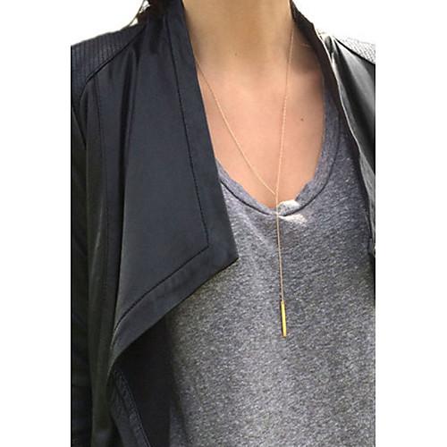 Жен. Ожерелья с подвесками Слоистые ожерелья Y-ожерелья - Мода Золотой Серебряный Ожерелье Назначение Особые случаи День рождения жен  двухслойные зонты слоистые ожерелья