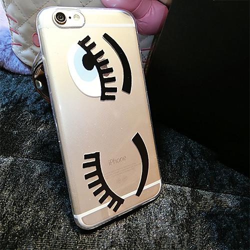 Кейс для Назначение Apple iPhone 6 iPhone 6 Plus Прозрачный С узором Кейс на заднюю панель Мультипликация Мягкий ТПУ для iPhone 6s Plus