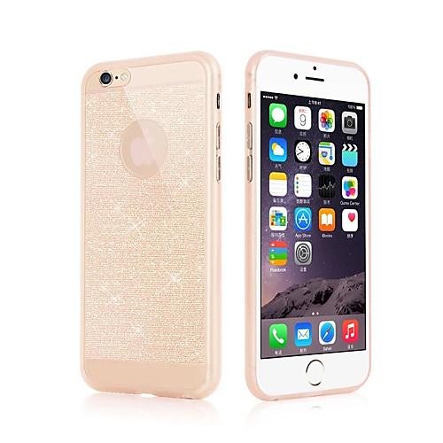 Кейс для Назначение Apple iPhone 6 iPhone 6 Plus Ультратонкий Кейс на заднюю панель Сияние и блеск Мягкий ТПУ для iPhone 6s Plus iPhone