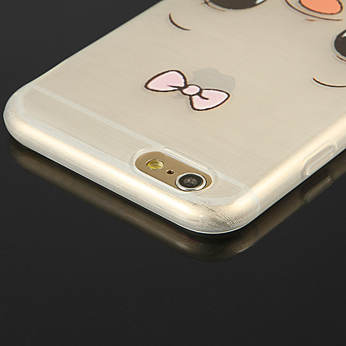 творческий фон прозрачный TPU шаблон мягкий чехол для Iphone 6с 6 плюс от MiniInTheBox.com INT