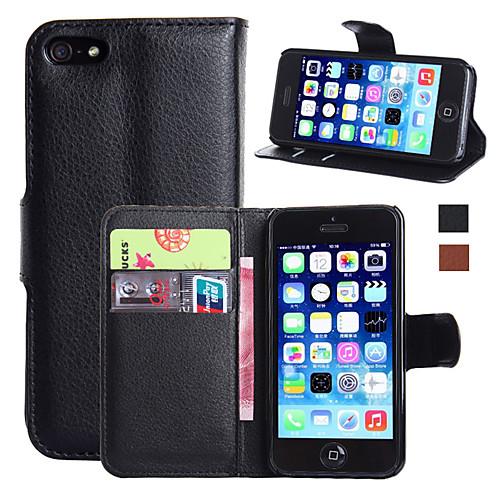 Кейс для Назначение Apple Кейс для iPhone 5 iPhone 6 iPhone 6 Plus iPhone 7 Plus iPhone 7 Бумажник для карт Кошелек со стендом Флип Чехол чехол для для мобильных телефонов iphone 6 apple iphone 6 5 5 for iphone 6 6plus