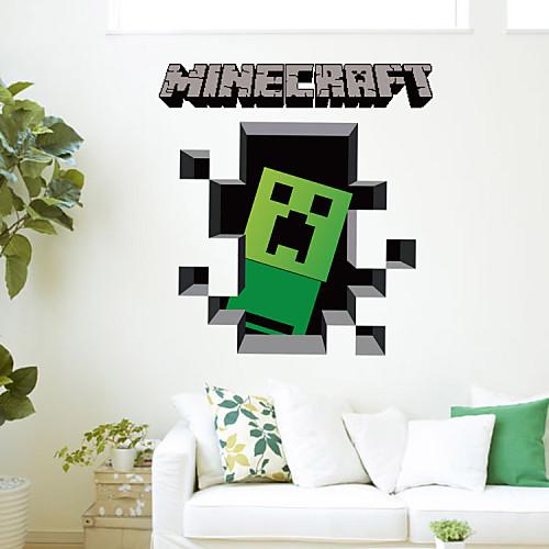 Наклейка на стену Декоративные наклейки на стены - Простые наклейки 3D Мультипликация Съемная