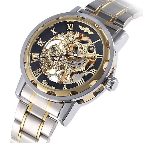 WINNER Муж. Модные часы Нарядные часы Механические часы Механические, с ручным заводом С автоподзаводом Разноцветный 30 m Светящийся Крупный циферблат Аналоговый Роскошь Винтаж На каждый день -