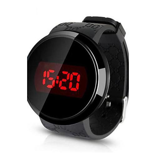 e577c5c44c Men's Wrist Watch Digital Watch Digital Silicone Black Water Resistant /  Waterproof Touch Screen Creative Digital Black Black / White White / Silver  ...